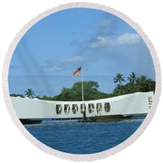 Arizona Memorial Round Beach Towel
