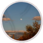Arizona Moon II Round Beach Towel