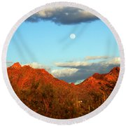 Arizona Moon Round Beach Towel