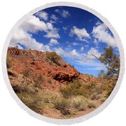Arizona Red Rock Round Beach Towel