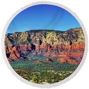 Arizona Rest Stop Round Beach Towel