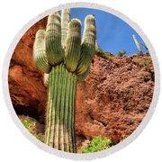 Arizona Saguaro #1 Round Beach Towel