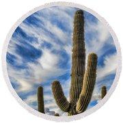 Arizona Saguaro  Round Beach Towel