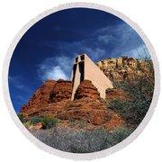 Arizona, Sedona  Chapel Of The Holy Cross Round Beach Towel