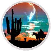 Arizona Skies Round Beach Towel