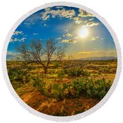 Arizona Sunset 28 Round Beach Towel