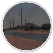 Arizona Waterway Round Beach Towel