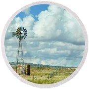Arizona Windmill Round Beach Towel