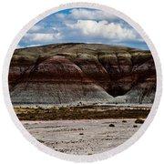 Arizona's Painted Desert #3 Round Beach Towel