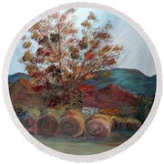 Arkansas Autumn Round Beach Towel