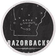 Arkansas Razorbacks / Ncaa College Football Art / Fayetteville Round Beach Towel by Damon Gray