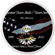 Armed Forces Desert Storm Round Beach Towel