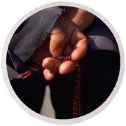 Armenian Prayer Beads Round Beach Towel by Travel Pics
