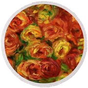 Armful Of Roses 1918 Round Beach Towel