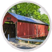 Armstrong/clio Covered Bridge Round Beach Towel