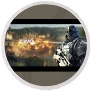 Army Of Two Round Beach Towel