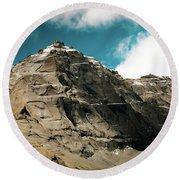Around Holy Kailas Himalayas Tibet Yantra.lv Round Beach Towel