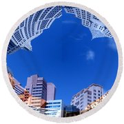Around New York Round Beach Towel