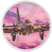Arrival Of A Fortress Round Beach Towel