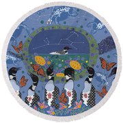 Arrival Of Wintermaker Round Beach Towel