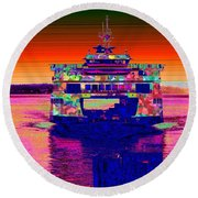 Arriving Home Round Beach Towel