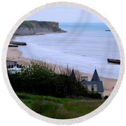 Arromanches-les-bain Round Beach Towel