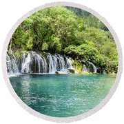 Arrow Bamboo Waterfall Round Beach Towel