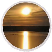 Arrowhead Lake Sunrise Round Beach Towel