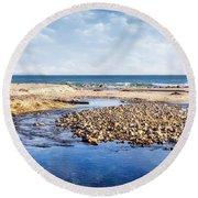 Arroyo Sequit Creek - Steelhead Trout Round Beach Towel