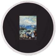 art 032 Maurice Prendergast Round Beach Towel