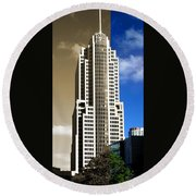 Art Deco Nbc Tower Round Beach Towel