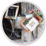 Art Gallery Bike Round Beach Towel