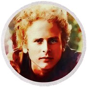 Art Garfunkel, Music Legend Round Beach Towel
