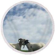 Art Goats II Round Beach Towel
