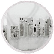 Art In The Casbah Round Beach Towel