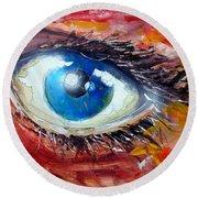 Art In The Eyes Round Beach Towel
