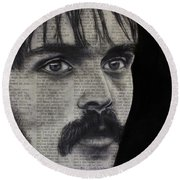 Art In The News 95-steve Prefontaine Round Beach Towel
