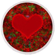 Art Of The Heart 2 Round Beach Towel