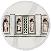 Art On Duomo In Florence Italy Round Beach Towel