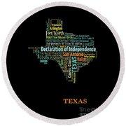 Art Print, Pop Art Texas Map, Modern Style Country Map, Country Maps For Home Decor, Pop Art Map Pri Round Beach Towel