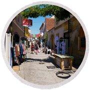 Art Street In Varazdin Round Beach Towel