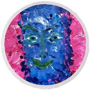 Art Therapy 233 Round Beach Towel