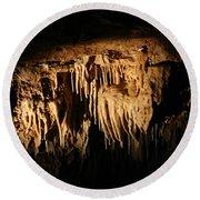 Art Underneath - Cave Round Beach Towel