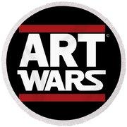 Art Wars Round Beach Towel