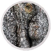 Art Within A Tree Round Beach Towel