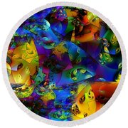 Arthropod Rainbow Round Beach Towel