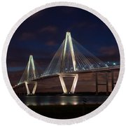Arthur Ravenel At Night Round Beach Towel