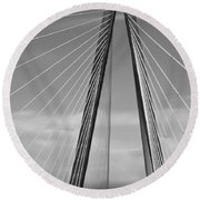 Arthur Ravenel Jr Bridge II Round Beach Towel