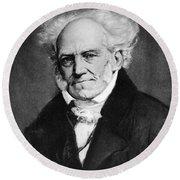 Arthur Schopenhauer Round Beach Towel
