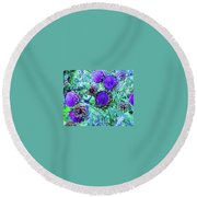 Artichoke Blues Round Beach Towel